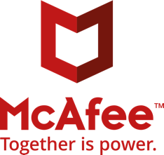 """Image of the McAfee Total Protection logo with the catchphrase """"Together is power""""."""