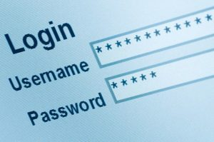 Picture of Login username and password
