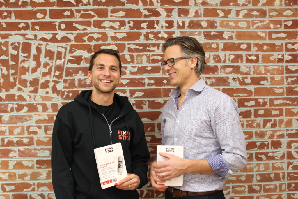 An image of Corey and Marty, the founders of FixMeStick Technologies Inc.