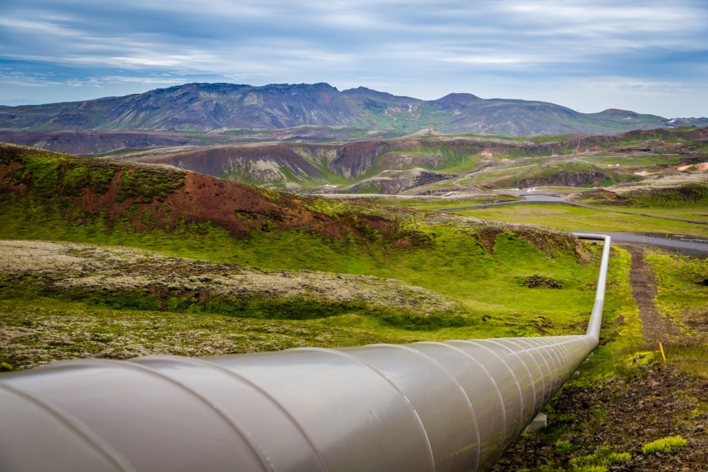 An image of a pipeline, similar to the recent one from the ransomware attack.