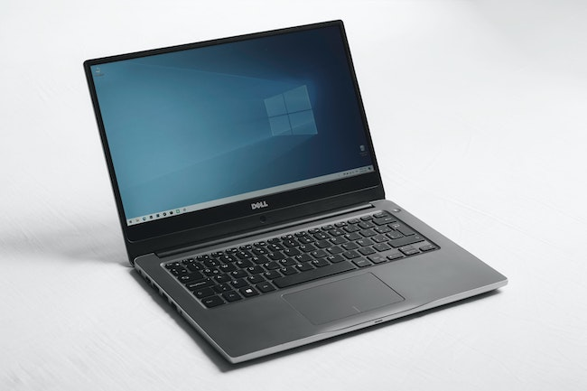 An image of a laptop computer that are in short supply due to the recent chip shortage and supply chain issues.
