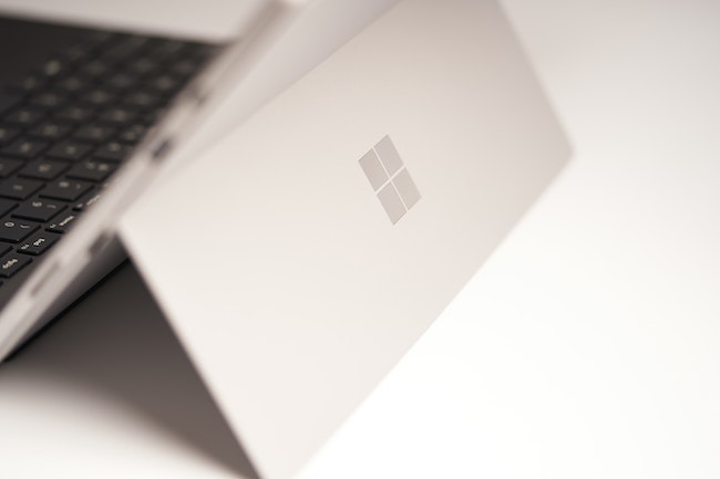 An image of the Microsoft surface tablet.